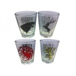Verre - Game Of Thrones - Pack 4 Verres à Shooter 50ml