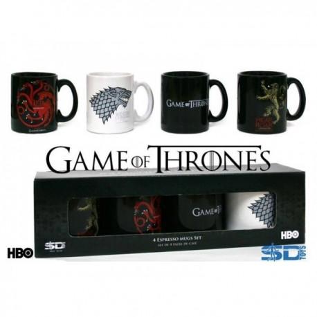 Mug - Game Of Thrones - Pack 4 Tasses Expresso 100ml