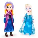Peluche - La Reine Des Neiges - Anna & Elsa Dolls Pack 25cm