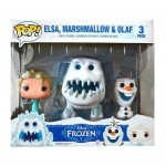 Pop! Disney: Frozen - Elsa, Marshmallow, Olaf 3-Pack